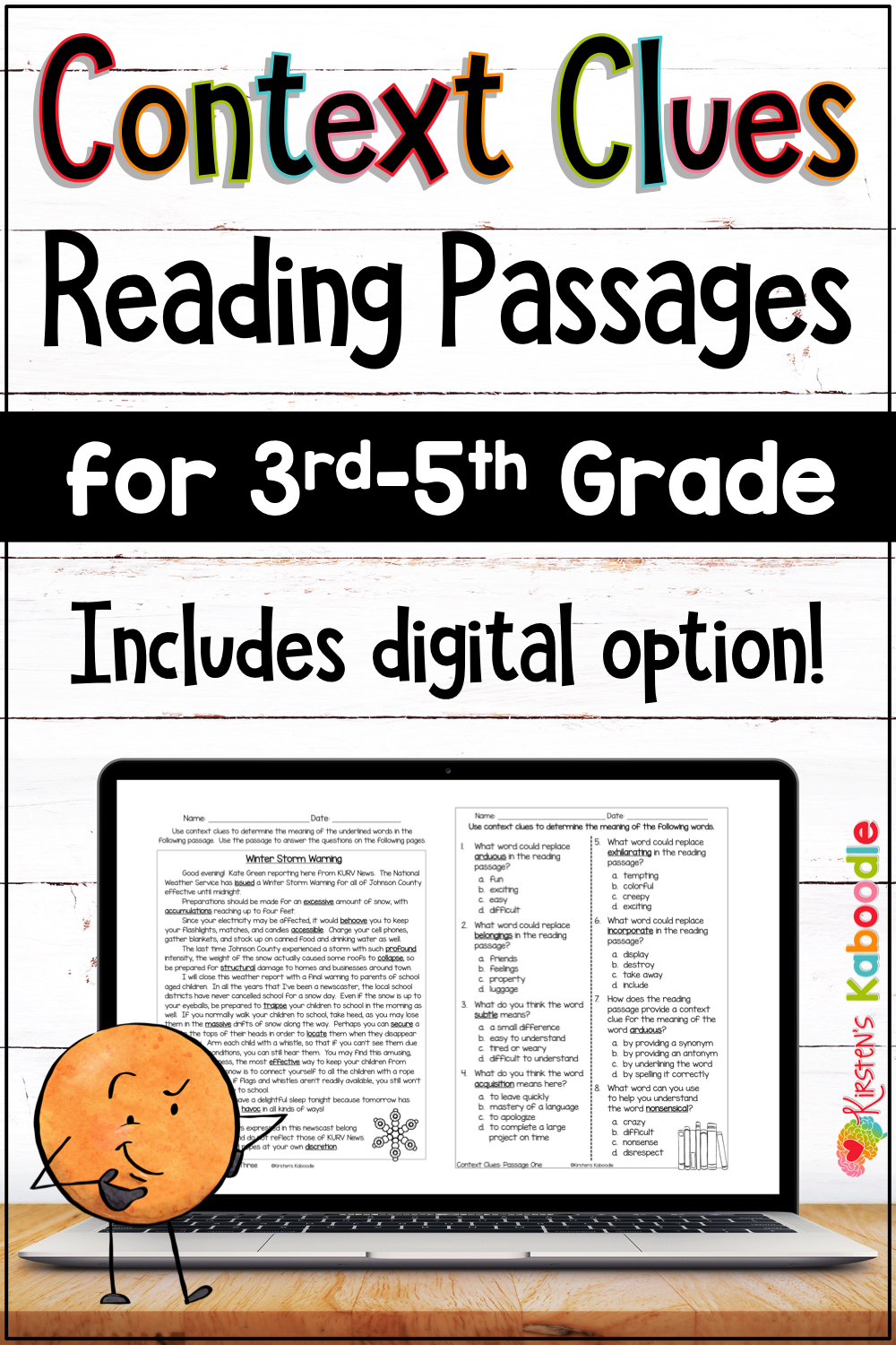 Context Clues Passages And Activities With Digital Option Context Clues Reading Passages Context Clues Worksheets [ 1500 x 1000 Pixel ]