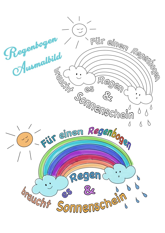 Regenbogen Ausmalbild Unterrichtsmaterial In Den Fachern Fachubergreifendes Kunst Ausmalen Ausmalbild Kunst Grundschule