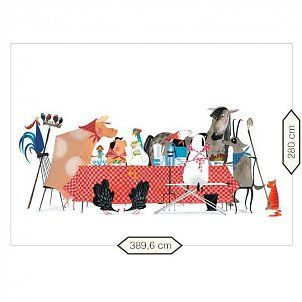 KEK Amsterdam Behang Bon Appétit multicolour vliespapier 389,6x280cm
