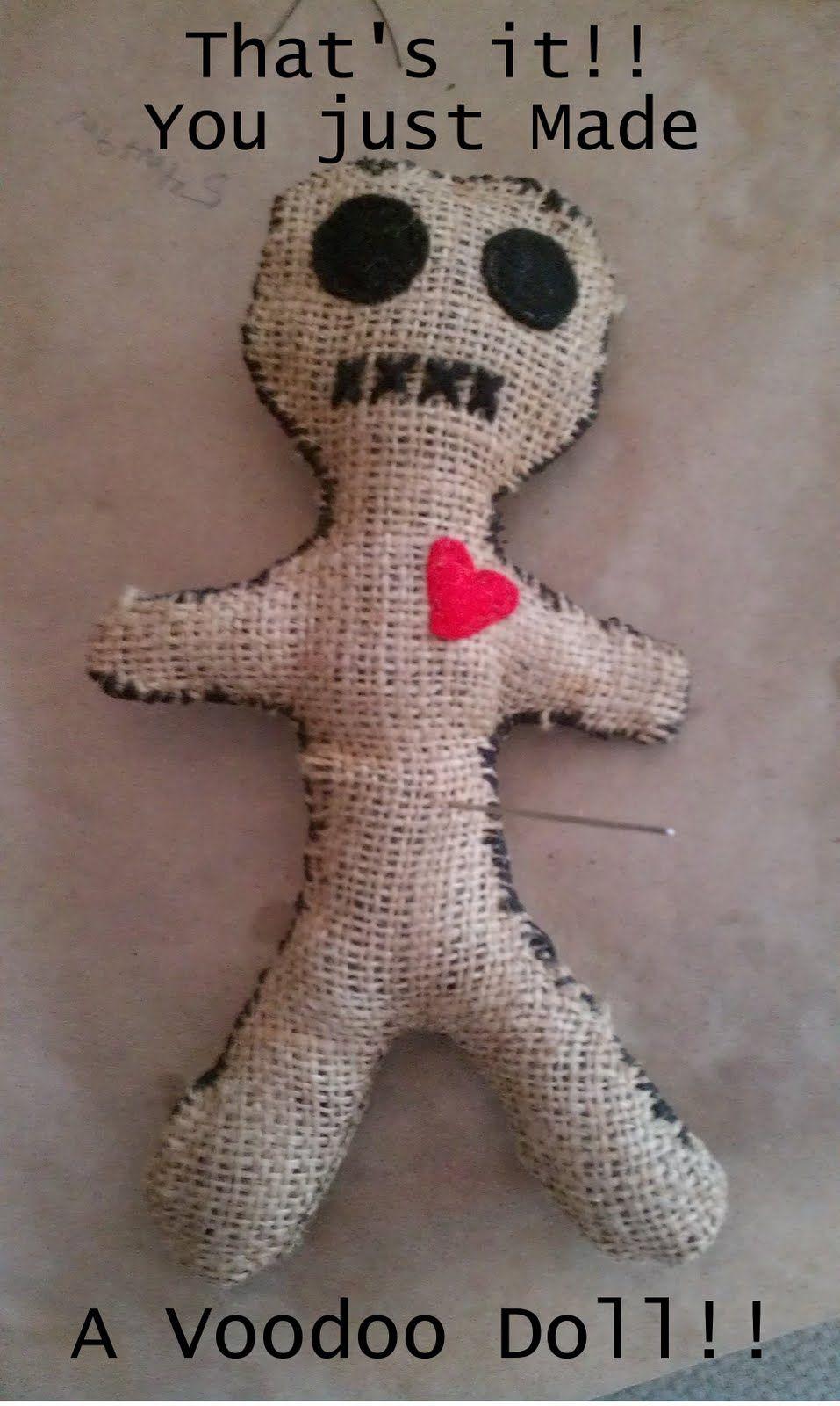 Msbittyknacks Blog Tutorial Make A Voodoo Doll Diy Voodoo Dolls Voodoo Dolls Doll Tutorial