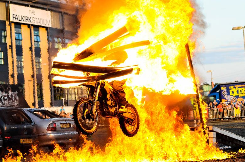 cbr stunt show at hollywood