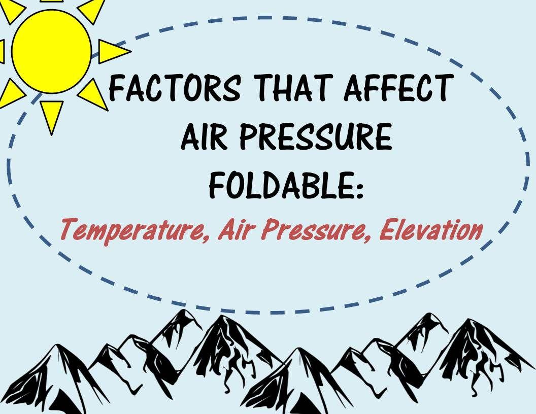 Air Pressure Factors That Affect Air Pressure Foldable