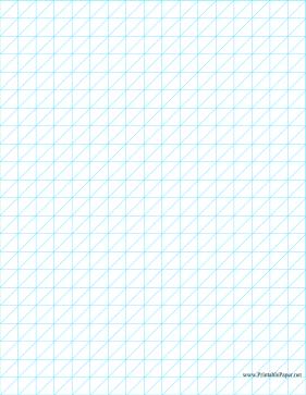 This Oblique Graph Paper Divides Each HalfInch Square Into Two