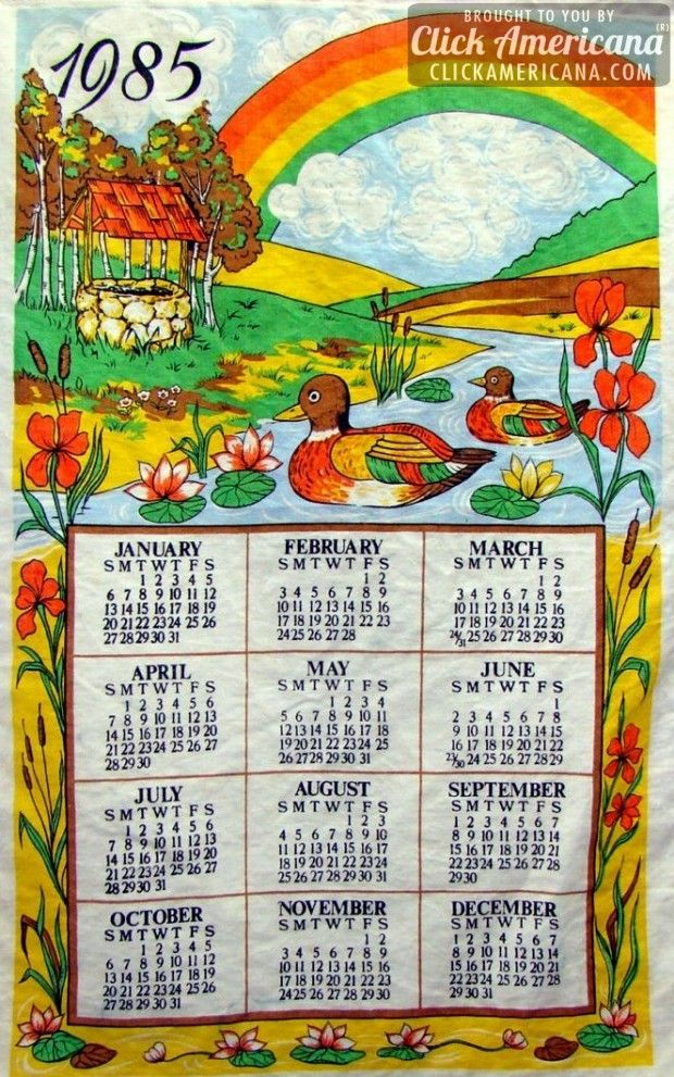 See 17 Old Fashioned Linen Calendar Towels That Lived In Retro