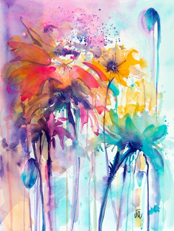 Jungle Ii Aquarelle Virginie Schroeder Toulouse