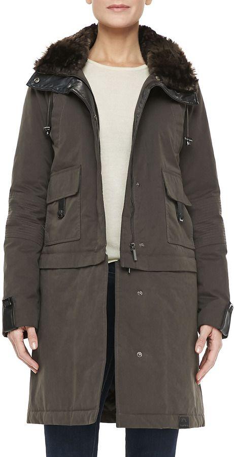 dbffa6e42 Bagatelle The Faux-Fur-Trim Storm Coat on shopstyle.com | Brandi's ...