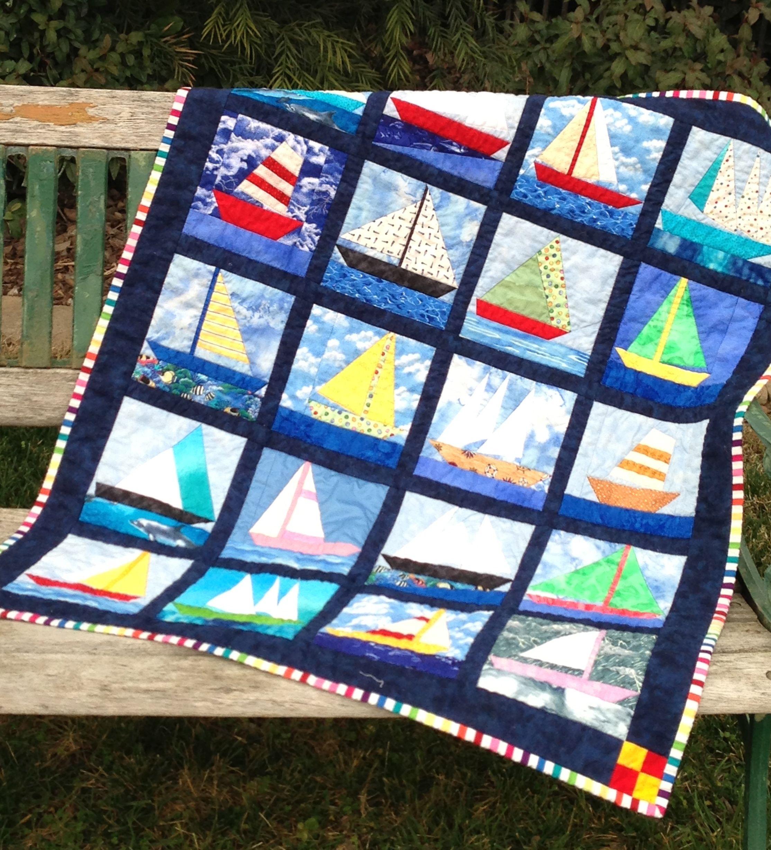 Paper-Pieced Sailboat Quilt | Quilts | Pinterest