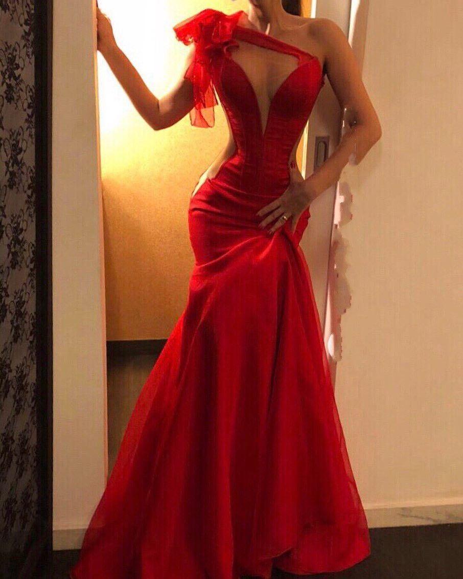 schlichtes abendkleider lang rot | abiballkleider günstig