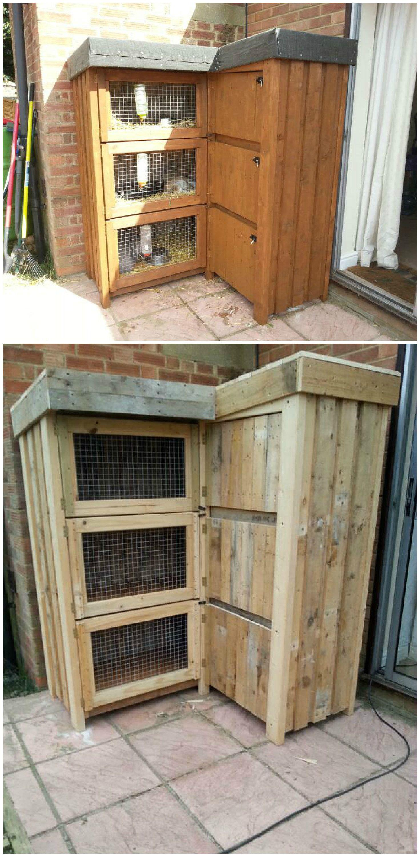 #Garden, #Hutch, #Rabbit, #RecycledPallet