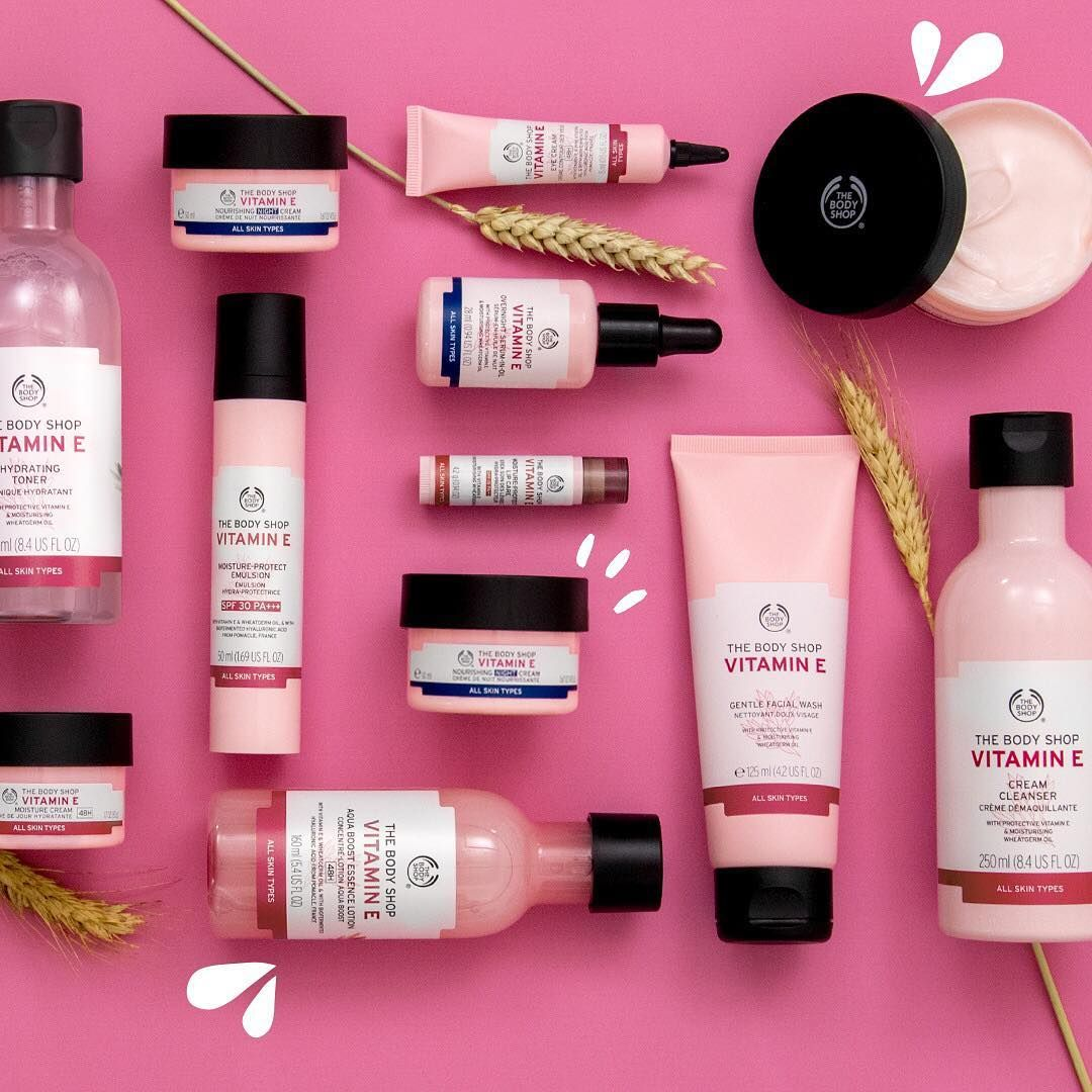 Skin In Need Of A Pop Of Moisture Come And Discover Our Iconic Vitamin E Range For Your Hydration Needs P Body Shop Skincare Body Shop At Home The Body Shop
