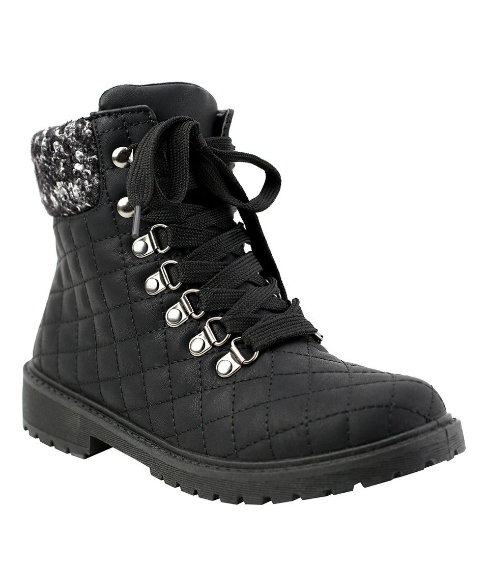 This Black Sutphin Quilted Boot By Olivia Miller Is