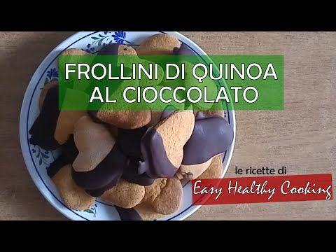 Frollini con farina di Quinoa, ricoperti di cioccolato. La ricetta