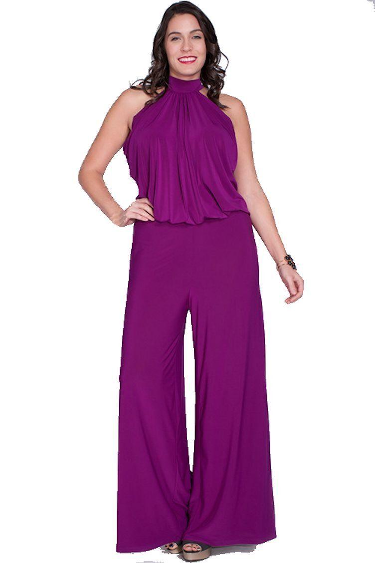 e7ccdd166467 Nyteez Women s Plus Size High Neck Wide Leg Jumpsuit (3X