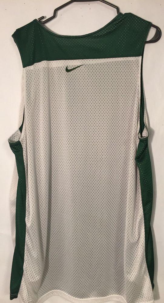 3fb7837fd31 NIKE Reversible Mesh Basketball Practice Jersey Tank Shirt Green/White XLT # Nike #ShirtsTops