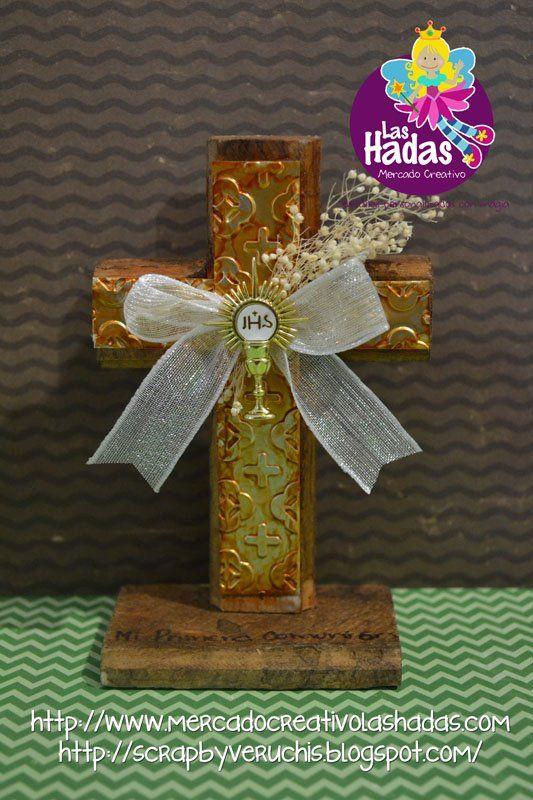 invitaciones de primera comunion en madera