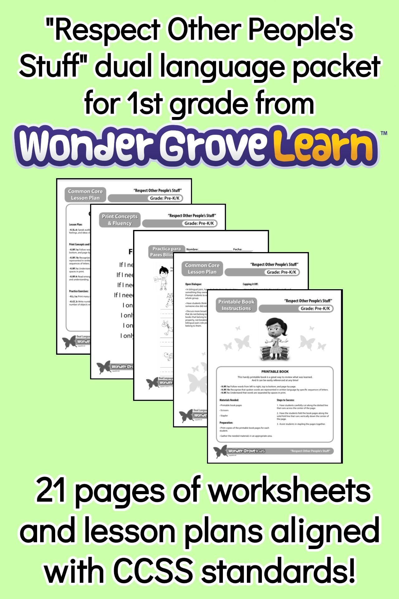 Social Skill Lessons and Worksheets - \Respect Other People's Stuff\ for 1st  Grade   Social skills [ 1920 x 1280 Pixel ]