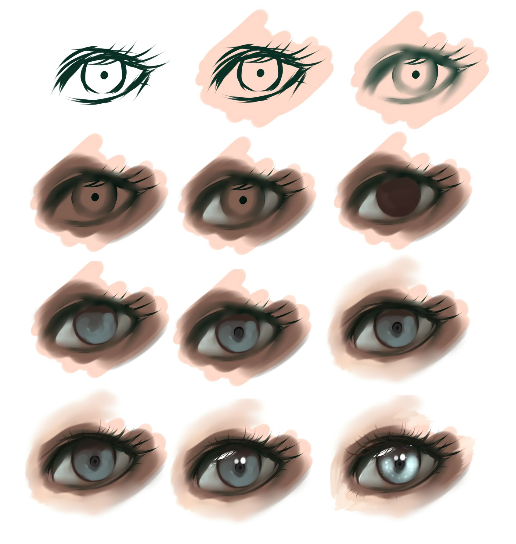 Character Design Eyes : Eye step by ryky viantart on deviantart