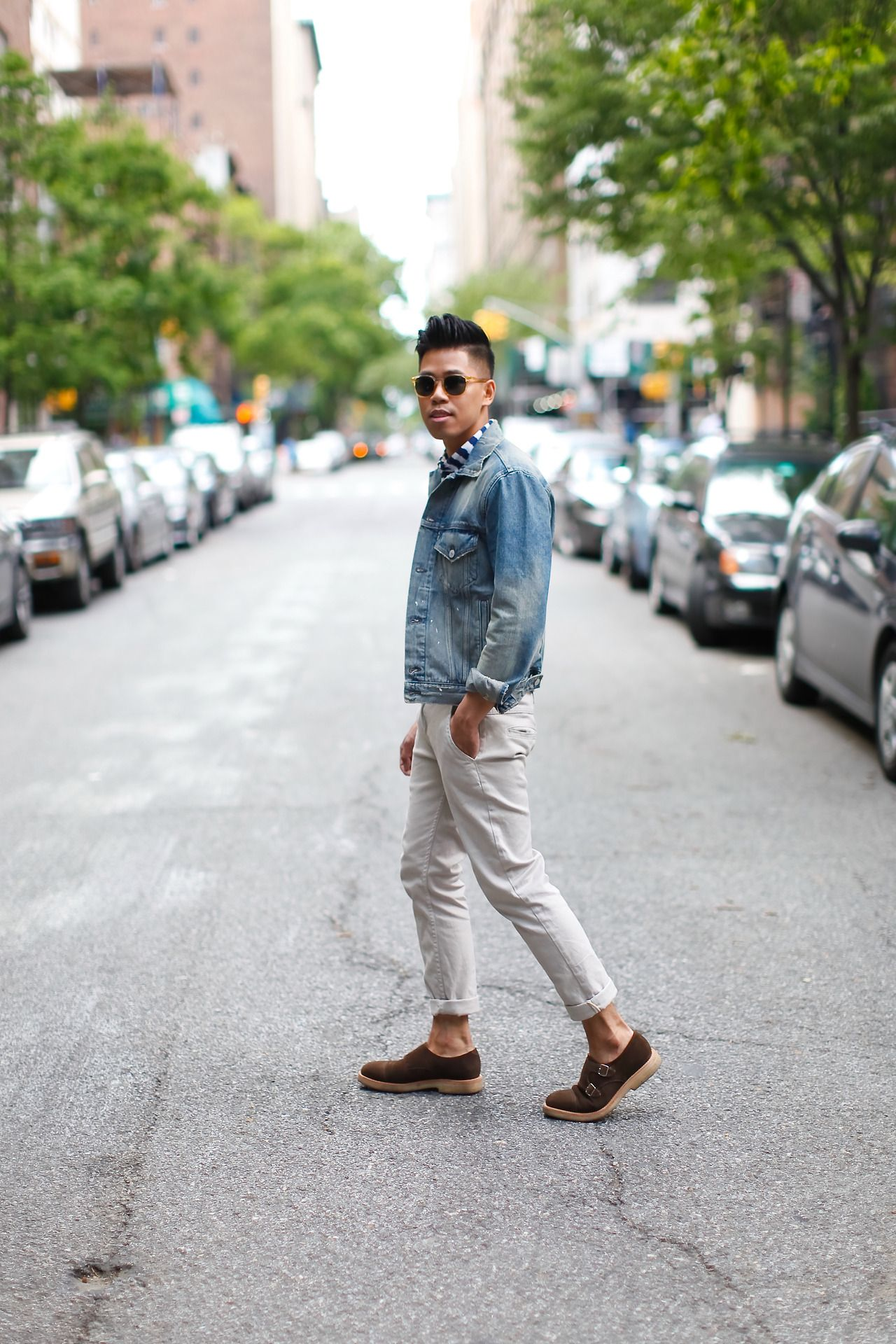 Outfit: Men's Denim Jacket Blue Jeans Happy... | Closet Freaks | Menswear & Personal Style