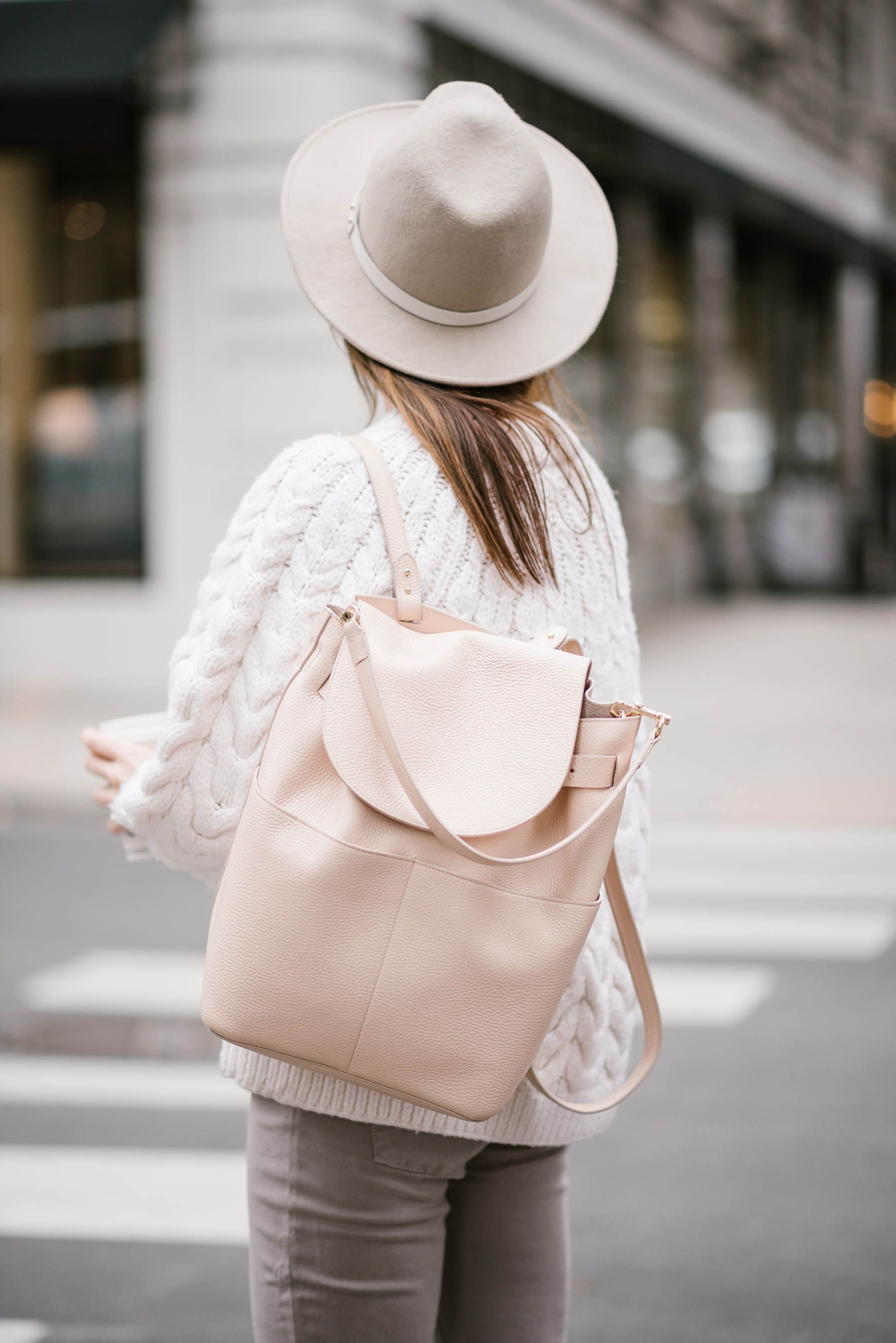 4b4981cafd blush leather backpack from cuyana