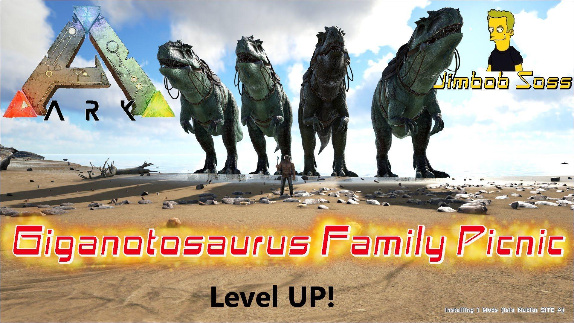 ARK Survival Evolved Giganotosaurus Family Picnic | Ark Survival 3