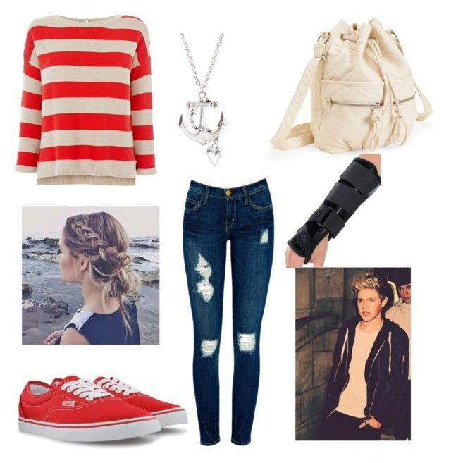 """His Birthday :)"" by niallersgirls ❤ liked on Polyvore featuring Warehouse, Current/Elliott, Vans and Aéropostale"