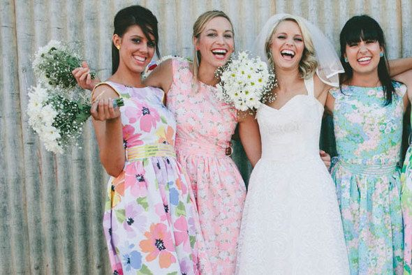 Vintage Country Wedding In Western Australia Love Wed Bliss Floral Bridesmaid Dresses Bridesmaid Vintage Country Weddings