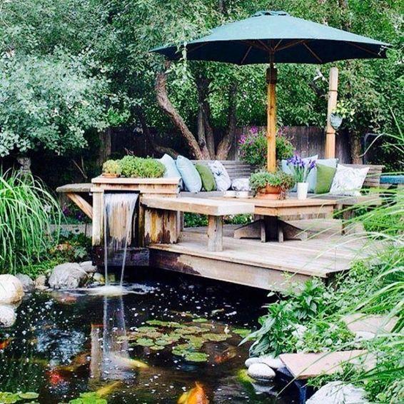 Garden with Fish Ponds Gardening Pinterest Fish ponds and Gardens