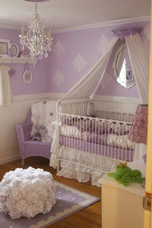 Beautiful lilac baby Girl nursery Decoracion habitacion