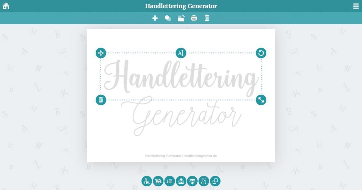 Der Handlettering Generator Ermoglicht Dir Beliebige Worter Texte In Wunder In 2020 Lettering Hand Lettering Ipad Lettering
