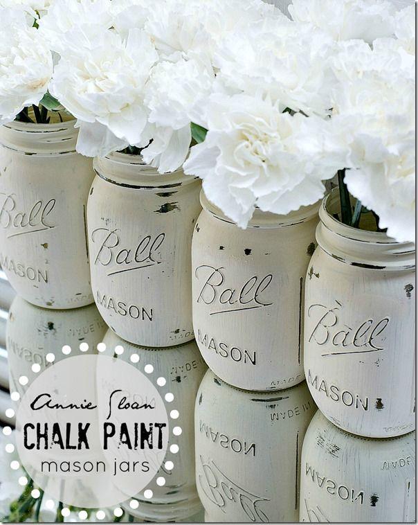 Annie Sloan Chalk Painted Mason Jars Annie Sloan Chalk Paint Mason Jars Chalk Paint Mason Jars Painted Mason Jars
