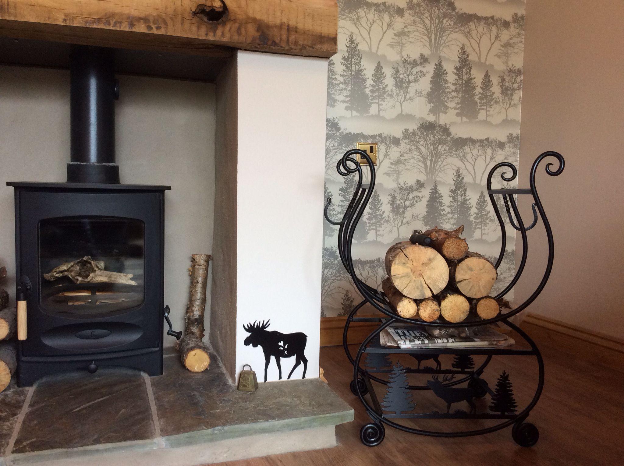 Log storage by black fox metal craft Metal crafts, Home