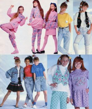 1989 Girls Clothes With Images 80s Fashion Kids 1980s
