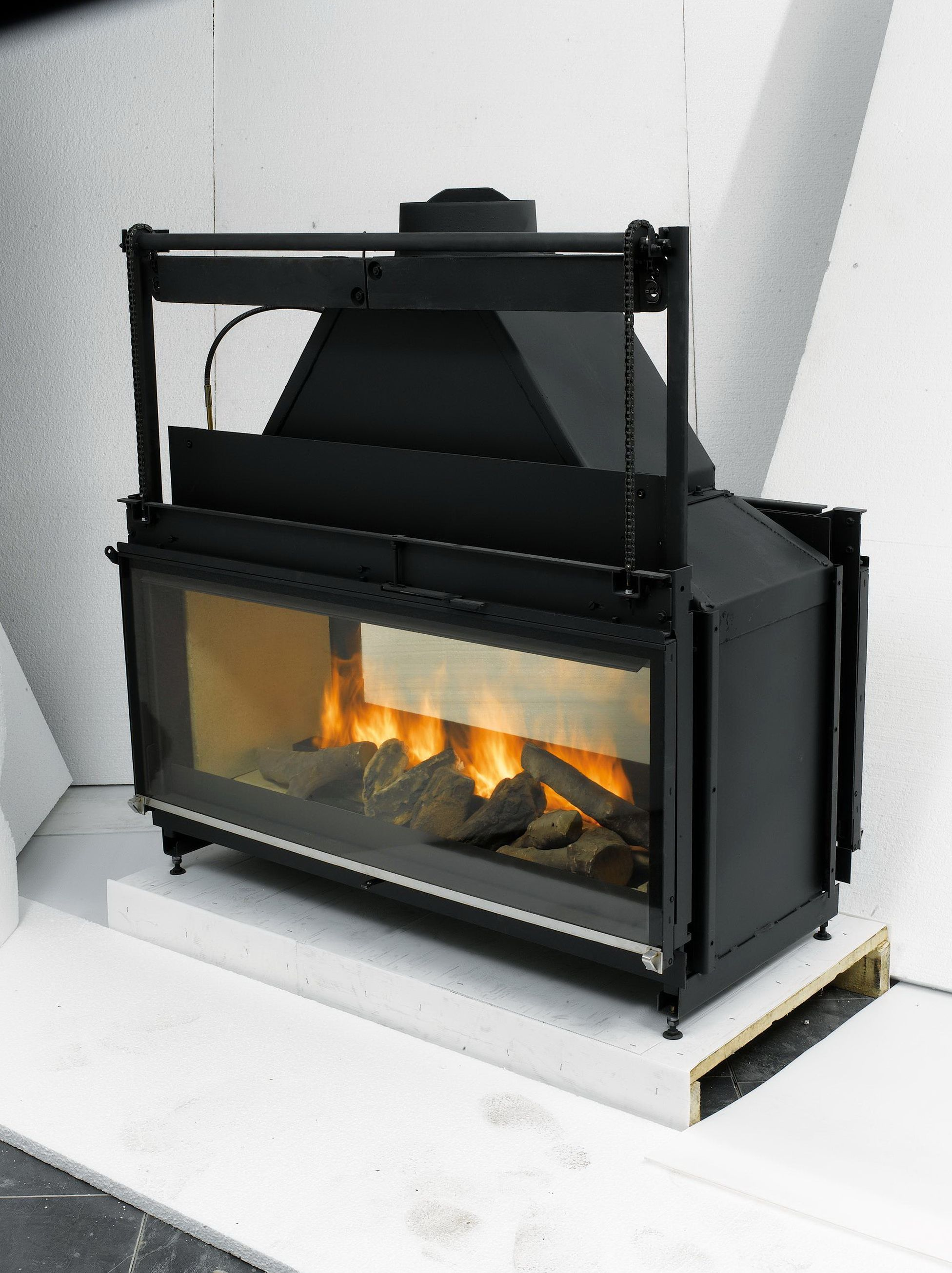 double sided wood burning fireplace insert with blower fireplace