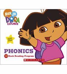 dora the explorer phonics boxed set 1 set of 12 books paperback