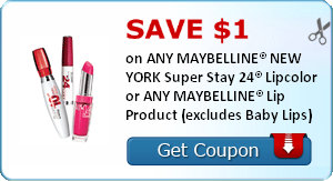 photograph regarding Maybelline Printable Coupons named Print Fresh new $1 Maybelline Lip Merchandise Coupon Discount coupons