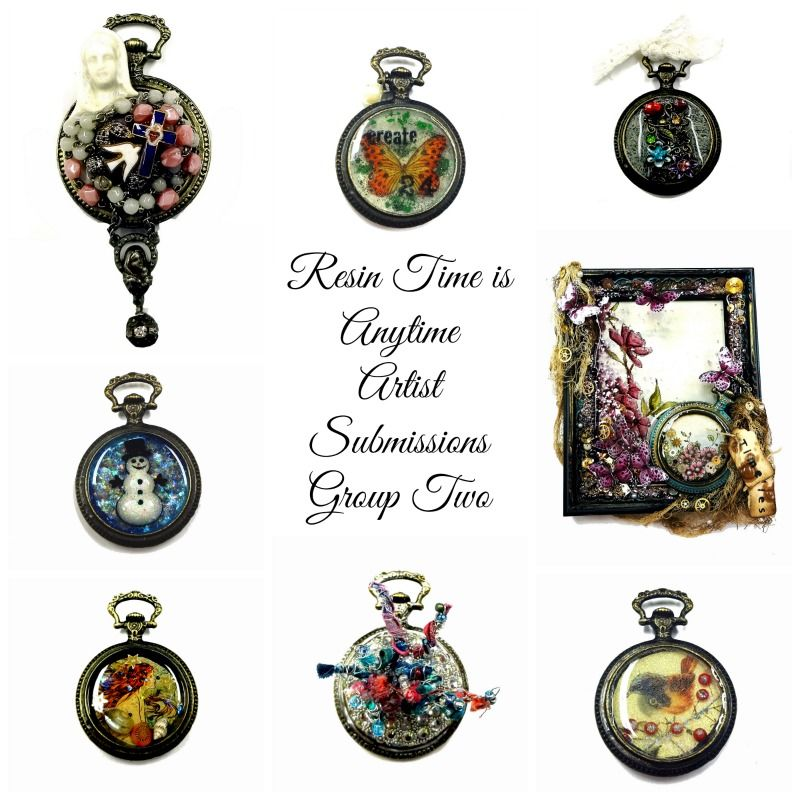 Group two of the Resin Time Submissions. http://resincrafts.blogspot.ca/2014/01/resin-time-is-anytime-artist.html