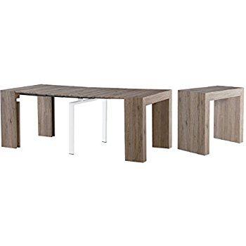 amazon com extendable space saving modern dining table transforms rh pinterest com