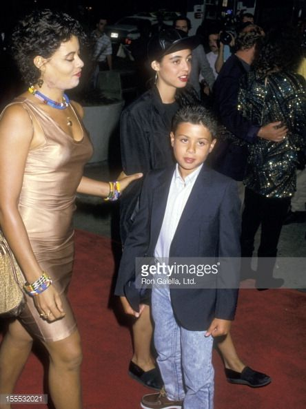 Actress Diahnne Abbott and son Raphael De Niro attend the ...