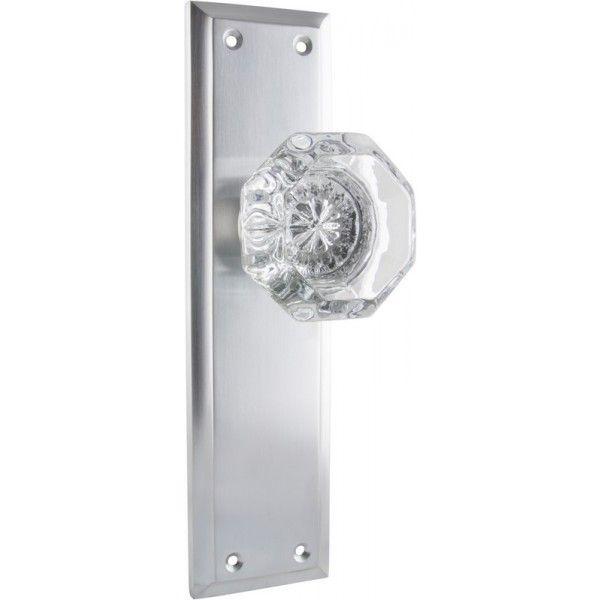 Satin Chrome Crystal Door Knob - Milton Glass Door Handle Range ...