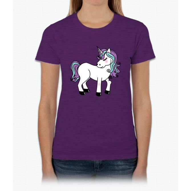 Kawaii Unicorn Womens T-Shirt