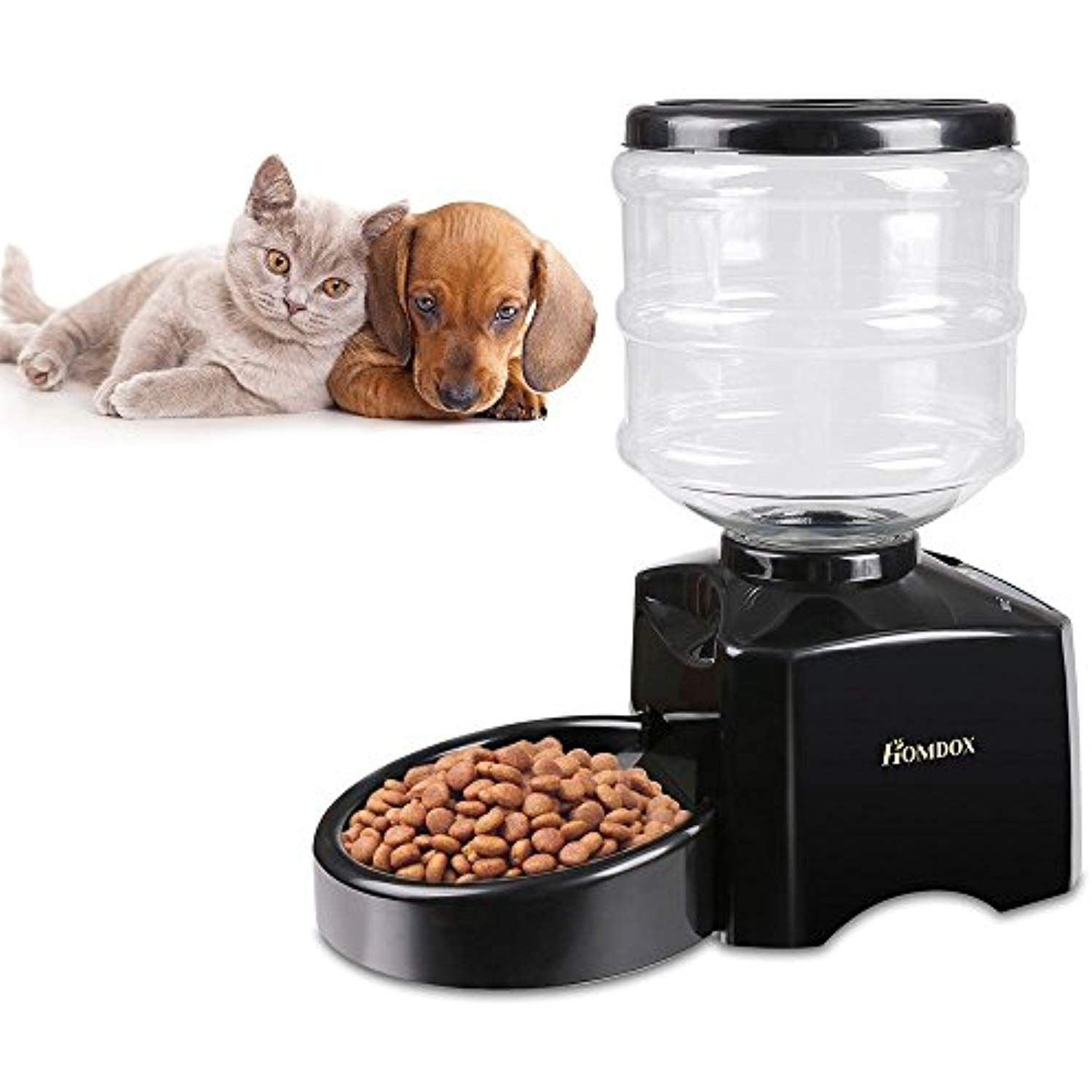 Homdox Automatic Pet Feeder Food Dispenser 4 Meal for Cat