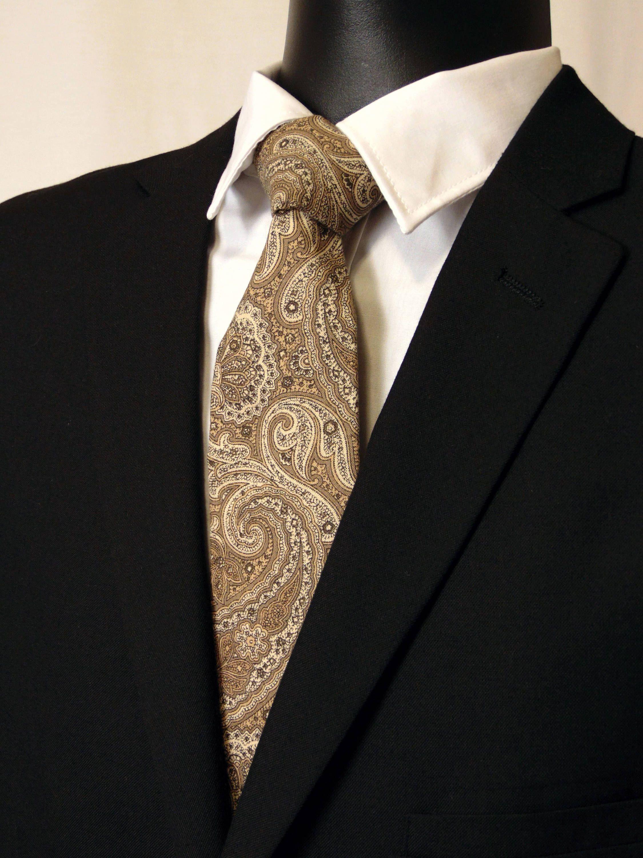 Mens Necktie Skinny Paisley Necktie Luxury Ties for Wedding Party
