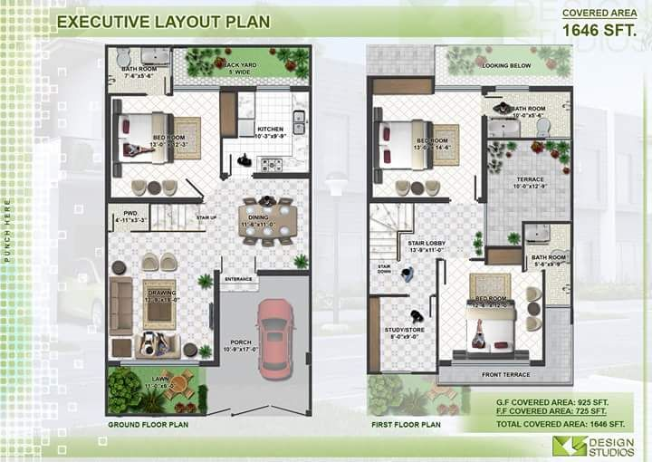Executive Layout Plans in 2019 | Duplex house plans, Modern ... on
