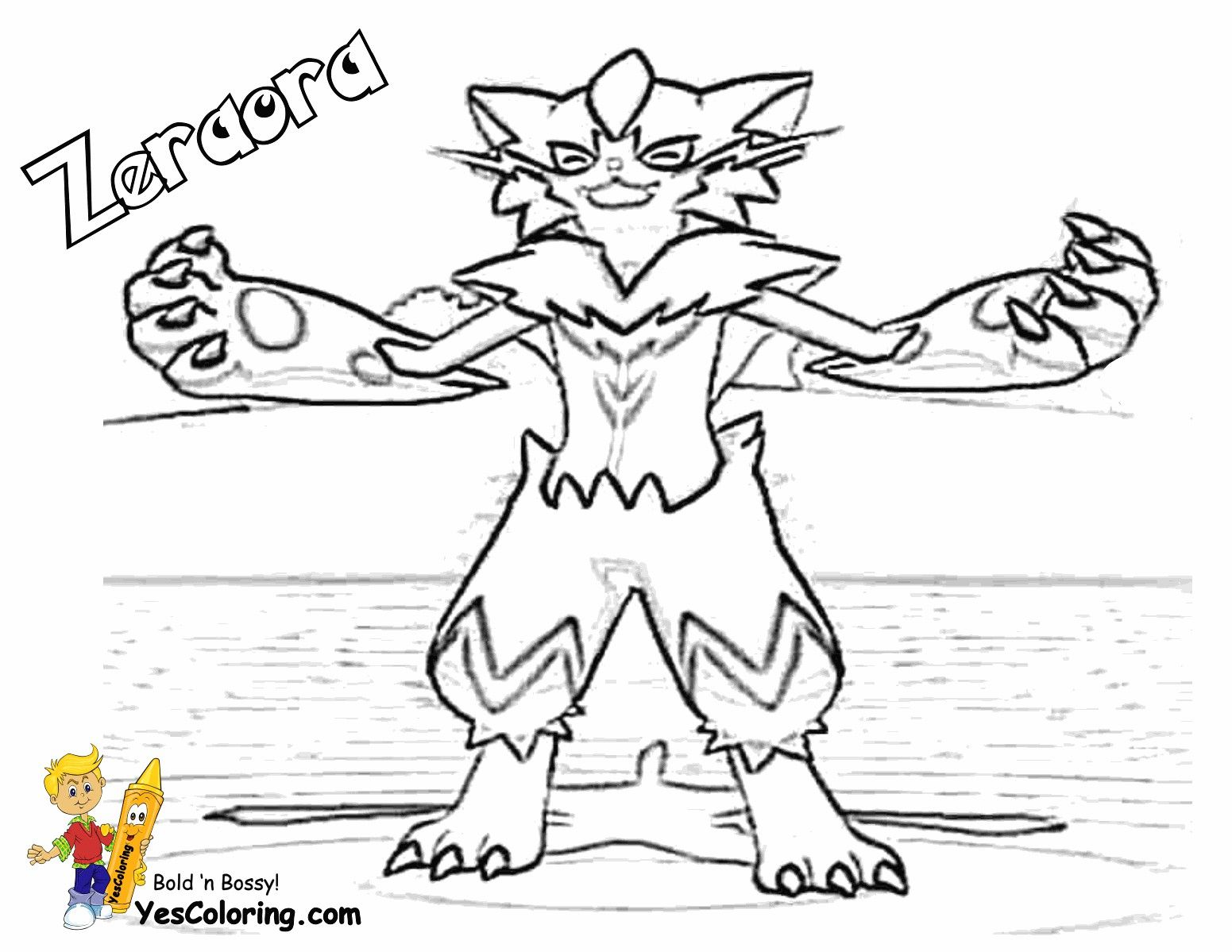 Pokemon Zeraora Coloring Pages Cartoon Coloring Pages Coloring