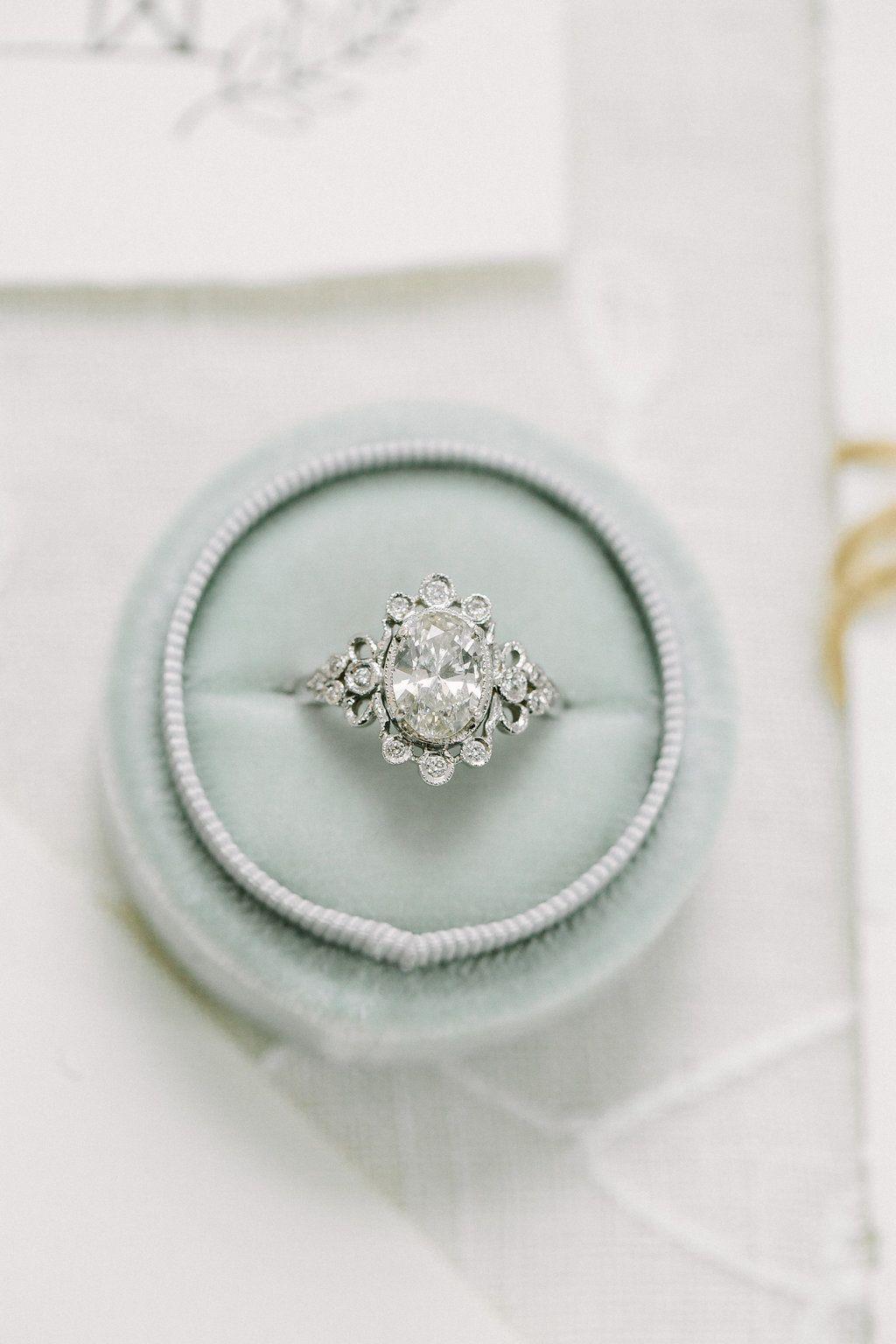 Garden of eden inspired vintage wedding ring ending in a real