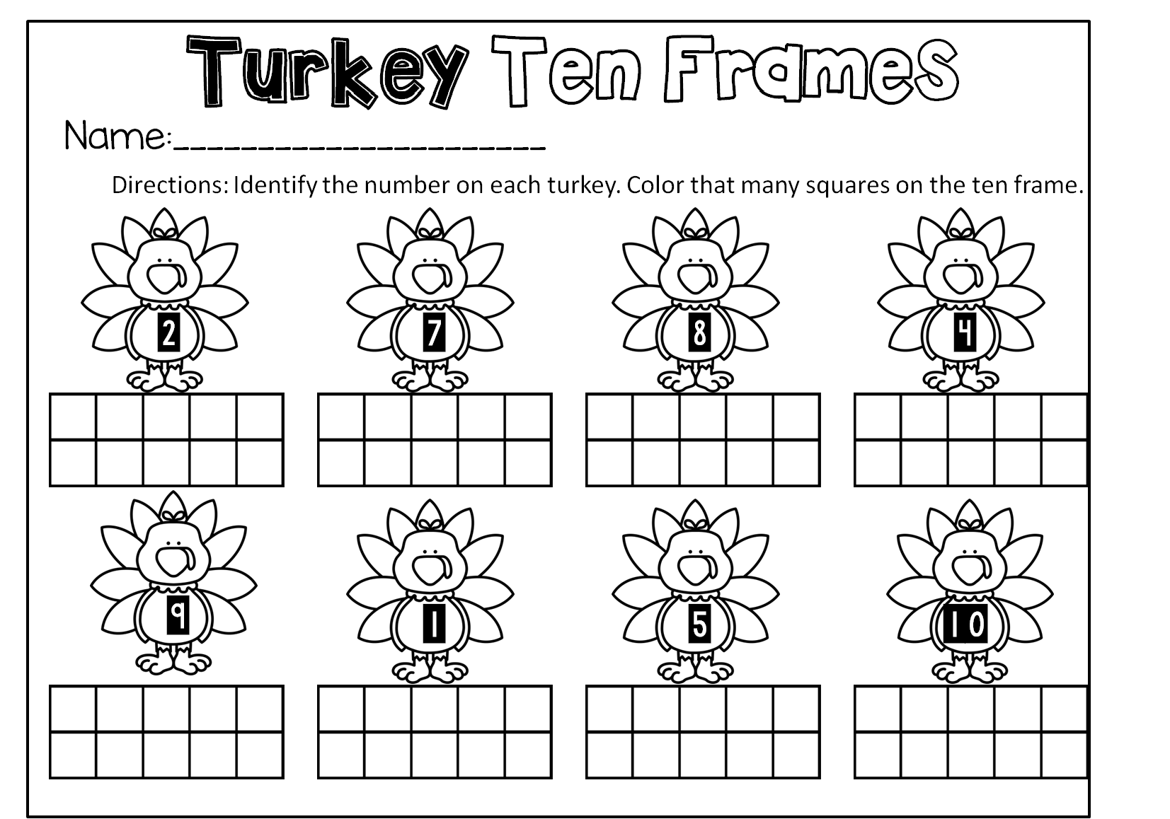 Thanksgiving Math And Literacy Centers For Preschool And