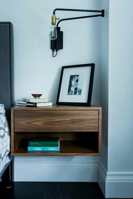 Locker Bedside Table: Floating Bedside Table, Small