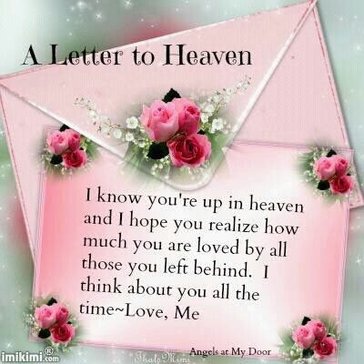 Letter To Heaven With Images Mom In Heaven Birthday In Heaven