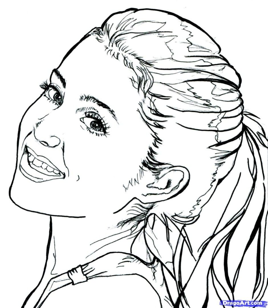 grande coloring pages ariana