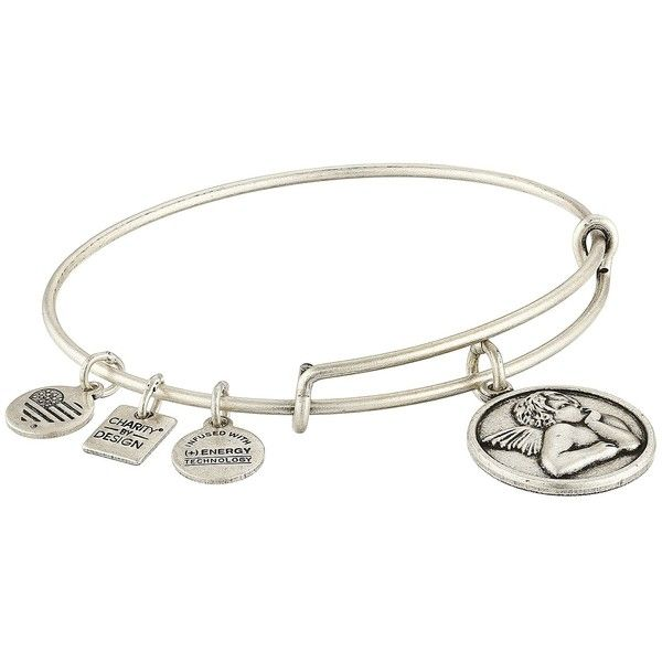 Alex and Ani Charity by Design - Cherub Expandable Charm Bangle... ($22) ❤ liked on Polyvore featuring jewelry, bracelets, bangle charms, silver charm bracelet, expandable bangles, alex and ani bangles and alex and ani jewelry